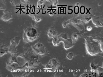 未拋光表面SEM圖500x