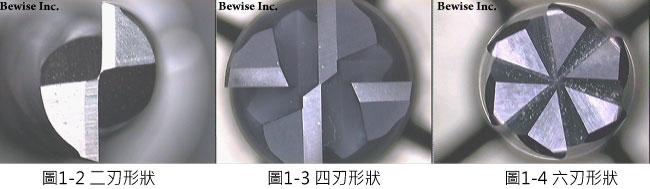 端銑刀,鎢鋼端銑刀介紹,二刃、四刃以及六端銑刀