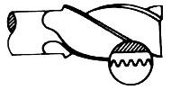 圓形斷屑齒